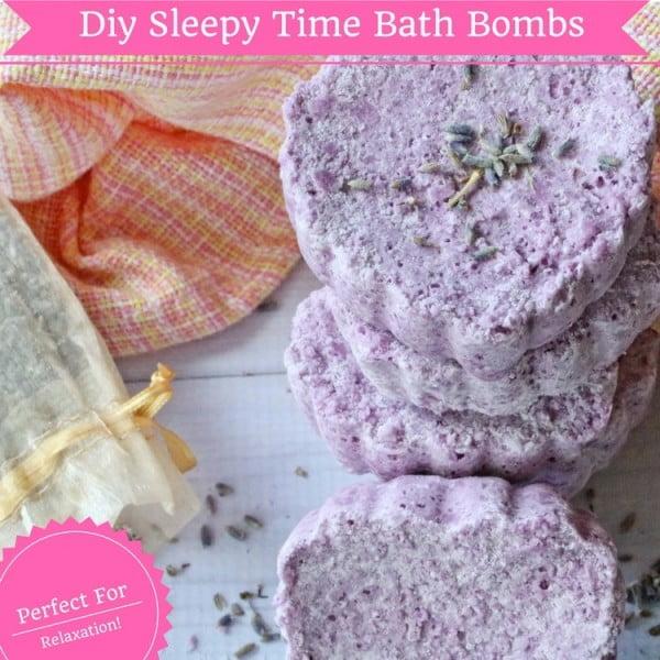 Sleepy Time Diy Bath Bombs #DIY #craft #bathroom