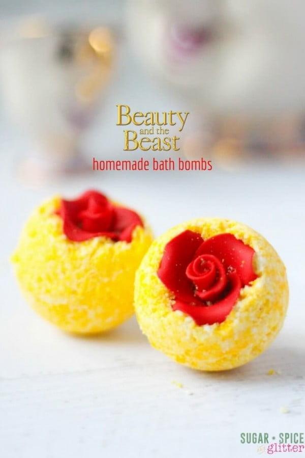 DIY Belle's Bath Bombs (with Video) ⋆ Sugar, Spice and Glitter #DIY #craft #bathroom