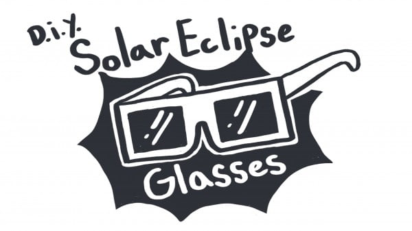 How to Make a Pair of DIY Glasses to View the Solar Eclipse #DIY #eclipse #glasses