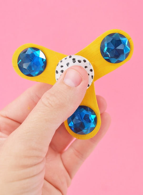 DIY Fidget Spinner without Skate Bearings #DIY #toys #crafts