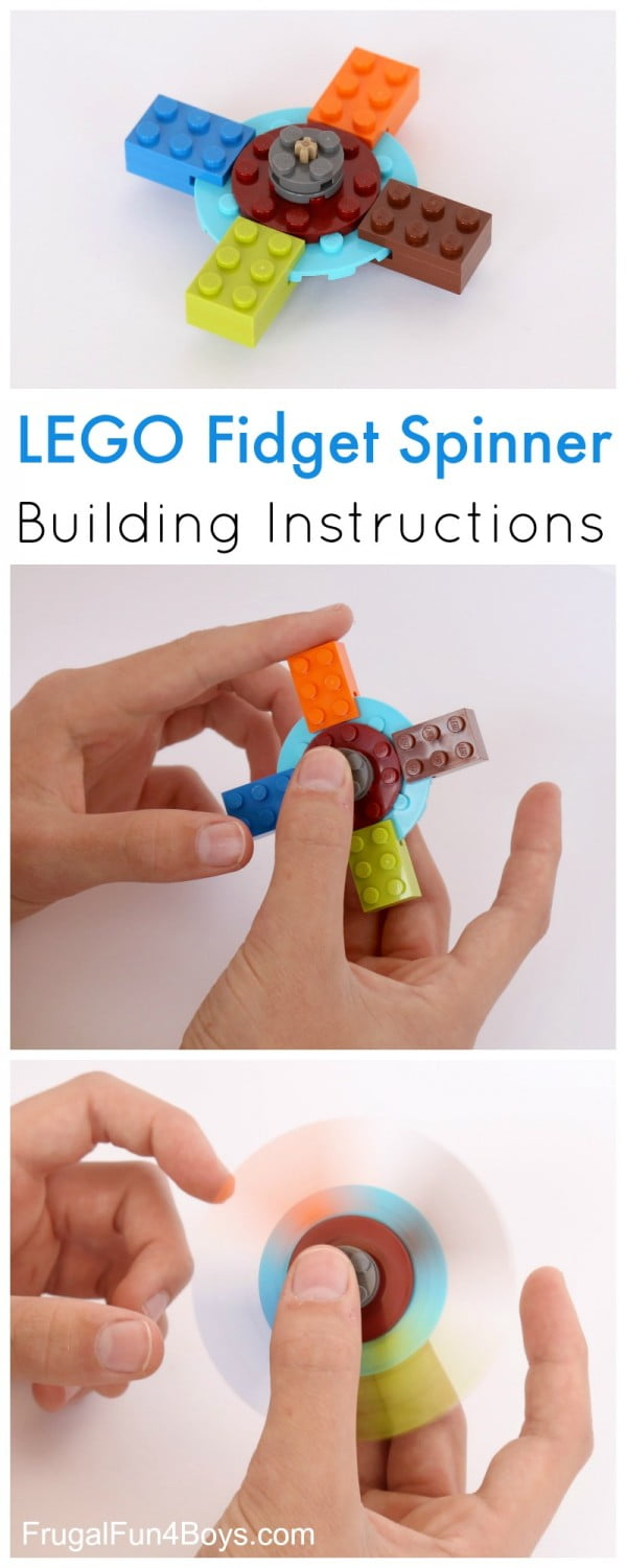 How to Build a Fidget Spinner with LEGO Bricks #DIY #toys #crafts