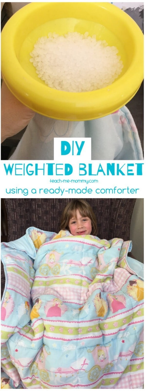 DIY Weighted Blanket #DIY #crafts #bedroom
