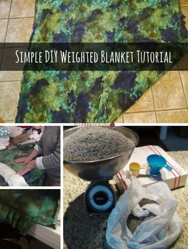 Simple DIY Weighted Blanket Tutorial #DIY #crafts #bedroom