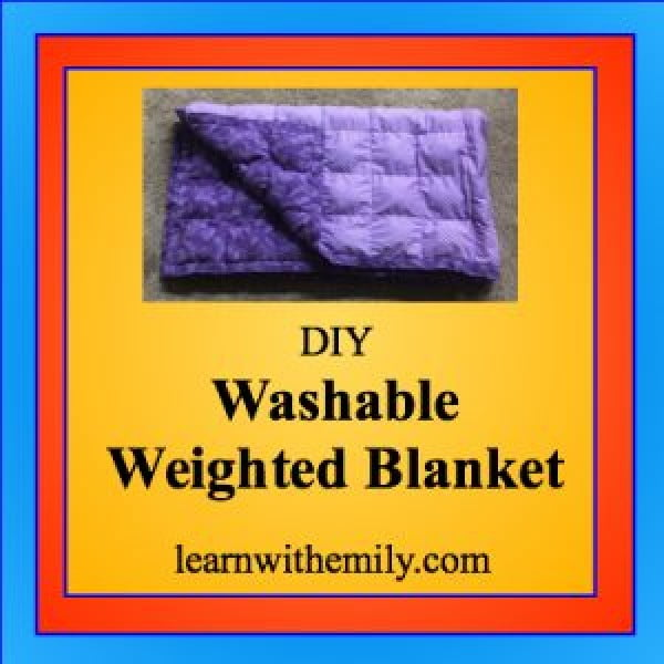 DIY Washable Weighted Blanket #DIY #crafts #bedroom