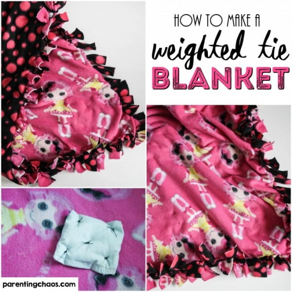 How to Make a Weighted Tie Blanket #DIY #crafts #bedroom