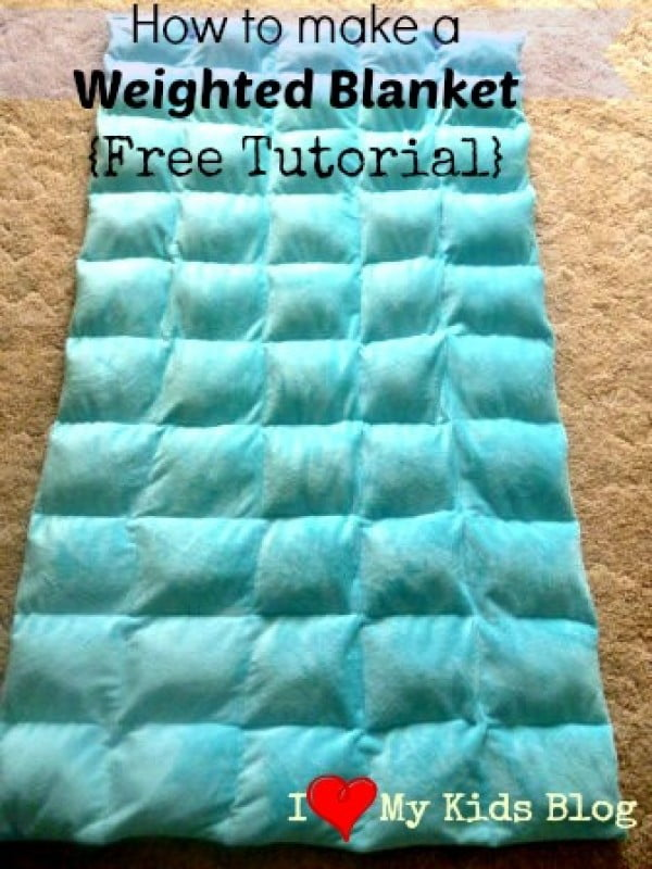 DIY Weighted Blanket Free Tutorial Charisma Down Alternative Blanket Costco #DIY #crafts #bedroom