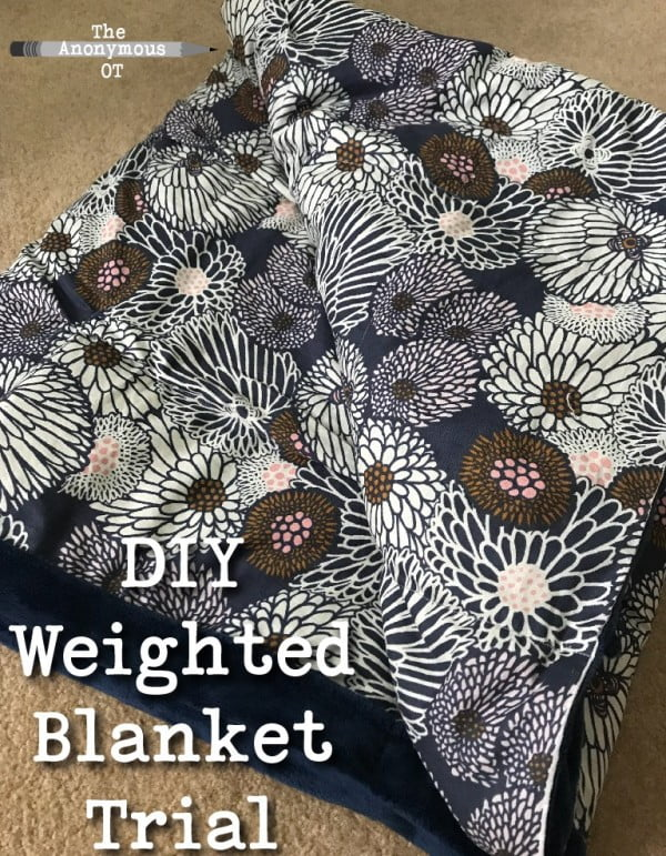 DIY Weighted Blanket Trial #DIY #crafts #bedroom