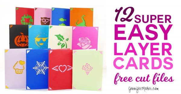 12 Super Easy Layer Cards #DIY #crafts #birthday