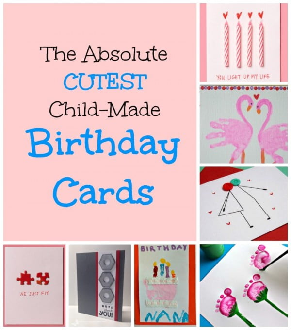 Homemade Birthday Cards for Kids to Create! #DIY #crafts #birthday