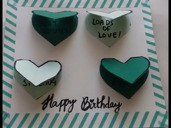 DIY- Easy/Cute/Mini Birthday card #DIY #crafts #birthday