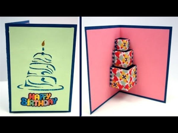 Easy DIY Birthday Card, How to make #DIY #crafts #birthday