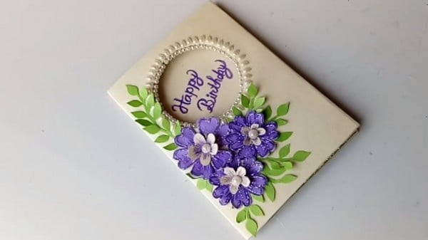 Beautiful Handmade Birthday card idea-DIY Greeting Cards for Birthday. #DIY #crafts #birthday