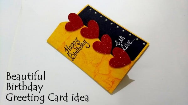 Beautiful Birthday Greeting Card Idea #DIY #crafts #birthday