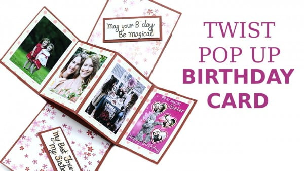 Unique Twist Pop Up Card, DIY Birthday Greeting Card Making #DIY #crafts #birthday