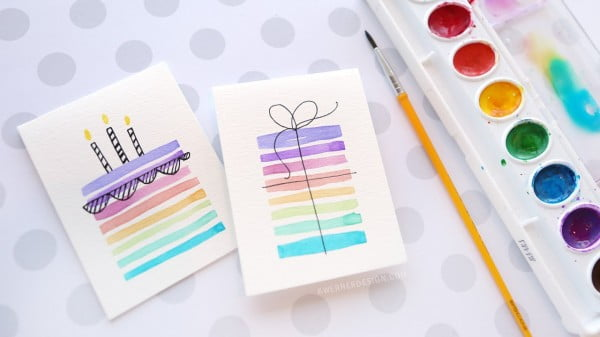 Easy DIY Birthday Cards Using Minimal Supplies Crafts