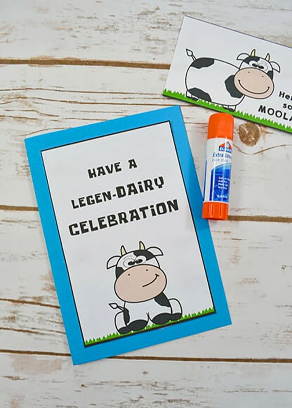 DIY Cow Birthday Card #DIY #crafts #birthday
