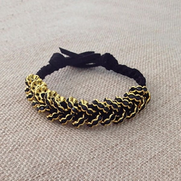 DIY Bracelet: Glammed Up Hex Nut Bracelet #DIY #crafts #jewelry
