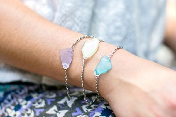 DIY Bracelet + Earrings #DIY #crafts #jewelry
