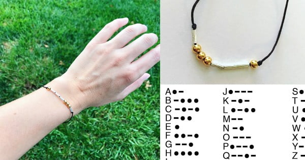How To Make a Morse Code Bracelet #DIY #crafts #jewelry
