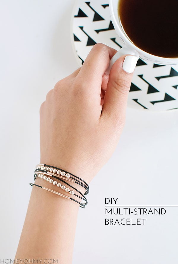 DIY Multi-Strand Bracelet #DIY #crafts #jewelry