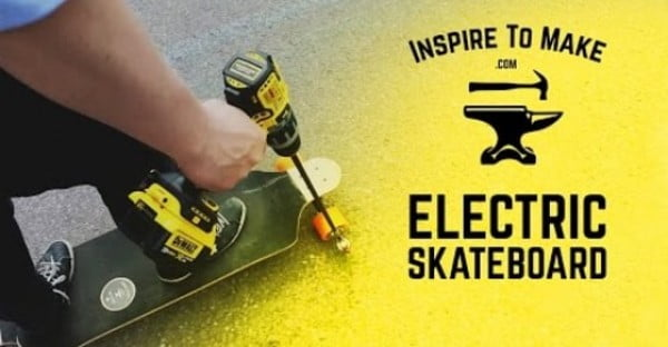 Cheap and Easy DIY Electric Skateboard Powered by a Drill! #DIY #crafts #toys