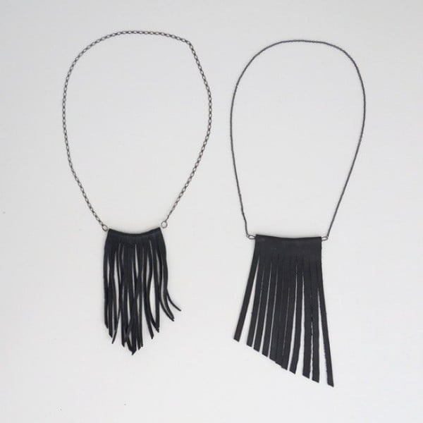 DIY: Fringe Necklace #DIY #crafts #jewelry #necklace
