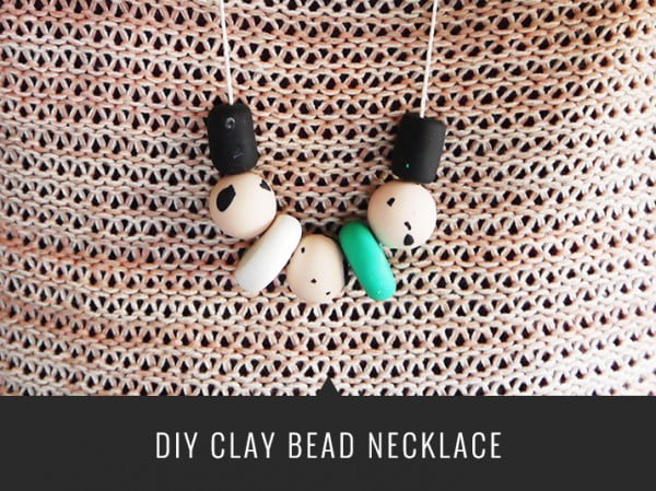 DIY Clay Bead Necklace #DIY #crafts #jewelry #necklace