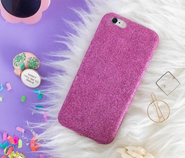 Make a Glitter DIY Phone Case in Four Easy Steps! #DIY #craft