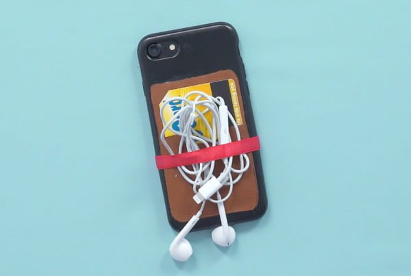 Make a DIY Phone Case That Organizes Cards and Cords #DIY #craft