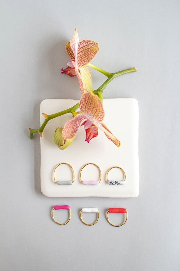 Fall For DIY Tube Rings #DIY #jewelry #ring #crafts