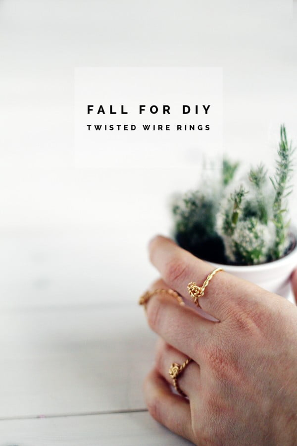 DIY Twisted Rings #DIY #jewelry #ring #crafts
