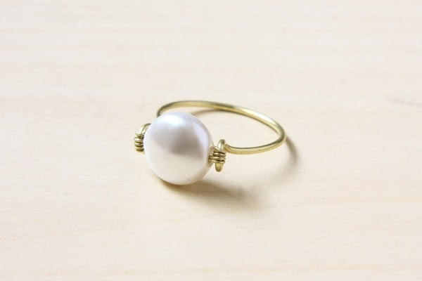 Wire Wrapped Ring #DIY #jewelry #ring #crafts