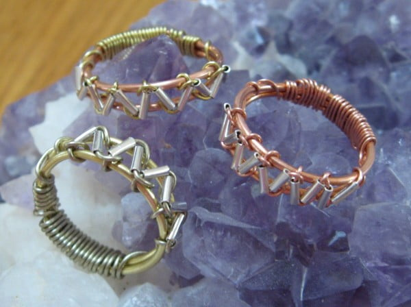 Zig Zag Wire Wrapped Ring #DIY #jewelry #ring #crafts