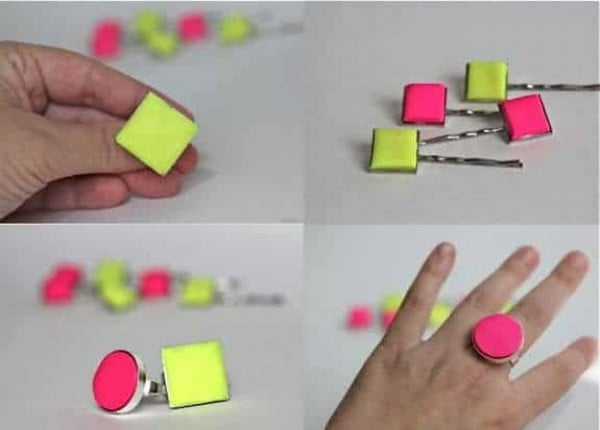 DIY Neon Ring #DIY #jewelry #ring #crafts