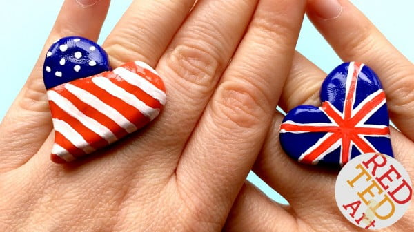 American Flag Ring DIY #DIY #jewelry #ring #crafts