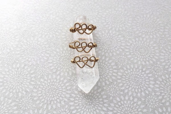 Dainty Double Heart Ring Tutorial #DIY #jewelry #ring #crafts
