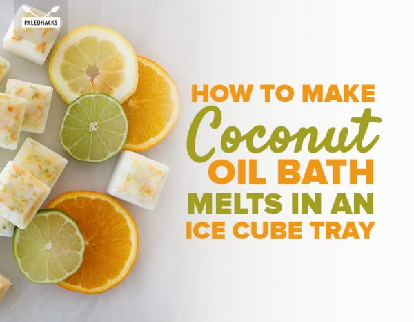 How to Make Coconut Oil Bath Melts in an Ice Cube Tray #DIY #crafts #beauty #bathroom