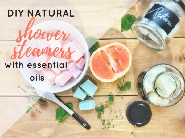 DIY Natural Shower Steamers with Essential Oils #DIY #crafts #beauty #bathroom