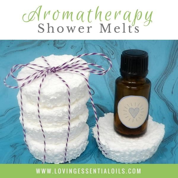 How to Make Super Simple Aromatherapy Shower Melts #DIY #crafts #beauty #bathroom