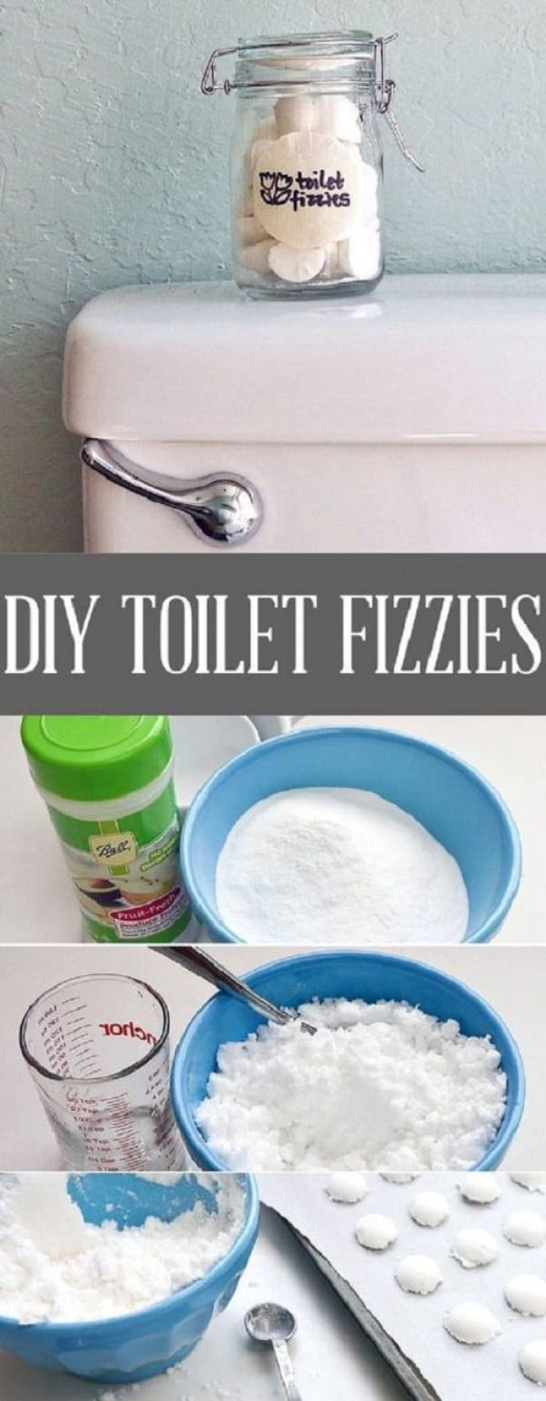Refresh Your Commode With DIY Toilet Fizzies #DIY #bathroom #cleaning #fizzies #toiletbombs #crafts