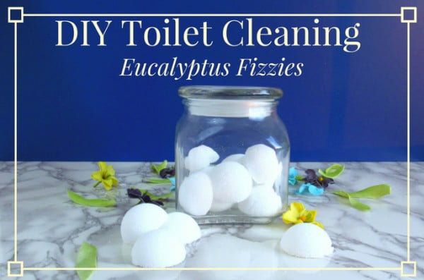 DIY Toilet Cleaning Eucalyptus Fizzies #DIY #bathroom #cleaning #fizzies #toiletbombs #crafts