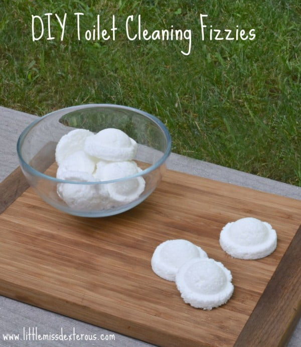 DIY Natural Toilet Cleaning Fizzies- Little Miss Dexterous #DIY #bathroom #cleaning #fizzies #toiletbombs #crafts