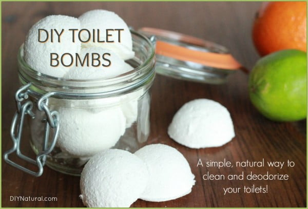 Toilet Bombs: A Deodorizing DIY Toilet Cleaner Bomb Recipe #DIY #bathroom #cleaning #fizzies #toiletbombs #crafts