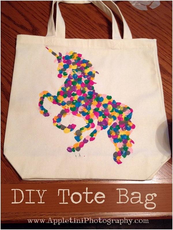 DIY Tote Bag Gift #DIY #craft #totebag