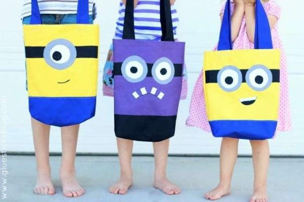 DIY Minion Tote Bag Sewing Tutorial: Make Your Favorite Minion #DIY #craft #totebag