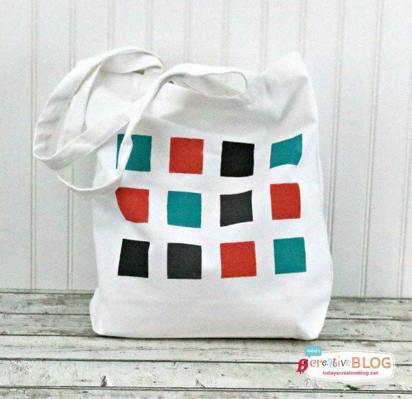 Carry It All in Style: DIY Color Block Tote Bag #DIY #craft #totebag
