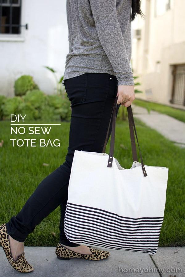 DIY No Sew Tote Bag #DIY #craft #totebag