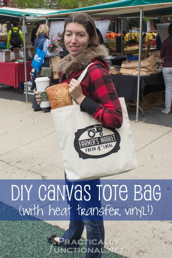 DIY Heat Transfer Canvas Tote Bag #DIY #craft #totebag