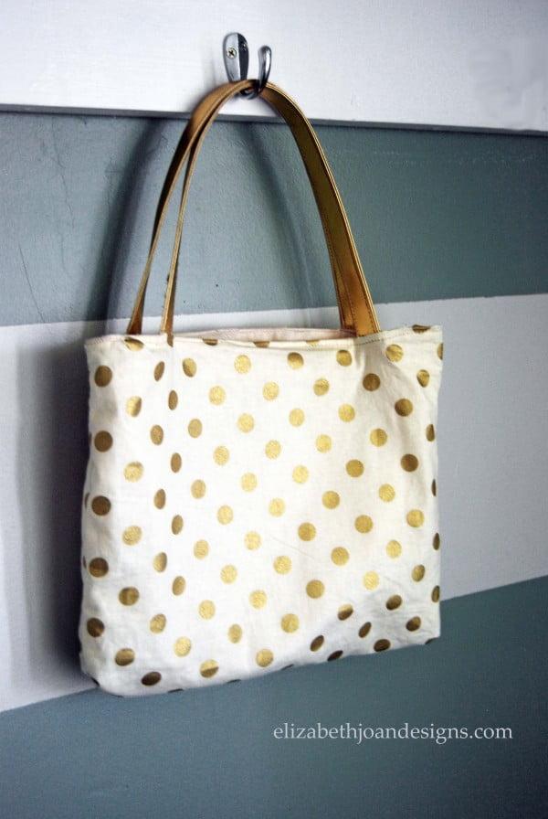 DIY Reversible Tote Bag #DIY #craft #totebag