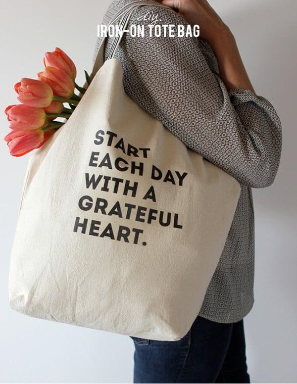 DIY Iron-on Tote Bag #DIY #craft #totebag